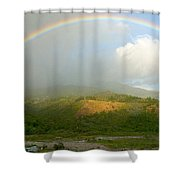 Rainbow Over Boquete Shower Curtain
