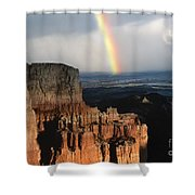 Rainbow Over  Bryce Canyon Shower Curtain