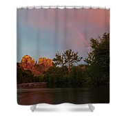 Rainbow Over Cathedral Rocks Shower Curtain