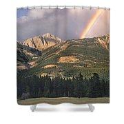 Rainbow Over Colin Range Jasper Np Shower Curtain