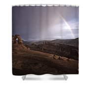 Rainbow Over Delicate Arch Shower Curtain