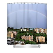 rainbow over Genova Shower Curtain