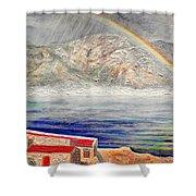 Rainbow Over Hermanus Shower Curtain