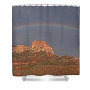 Rainbow Over Mt Johnson Shower Curtain