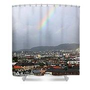 Rainbow Over Oslo Shower Curtain
