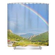 Rainbow Over Rollinsville Shower Curtain