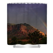 Rainbow Over Sedona  Shower Curtain