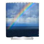 Rainbow Over The Atlantic Ocean Shower Curtain