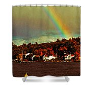 Rainbow Over Winnipesaukee Two Shower Curtain