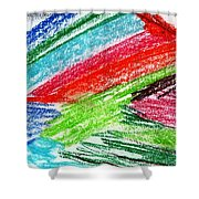 Rainbow Paintbrush Shower Curtain