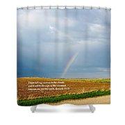 Rainbow Promise Shower Curtain
