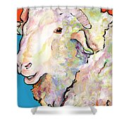 Rainbow Ram Shower Curtain