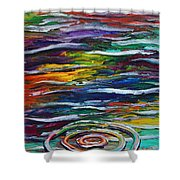 Rainbow Ripple Shower Curtain