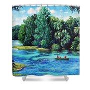 Rainbow River At Rainbow Springs Florida Shower Curtain