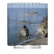 Rainbow Rock Shower Curtain