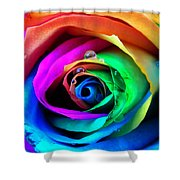 Rainbow Rose Shower Curtain