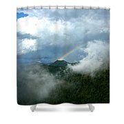 Rainbow Shrouded In Mist Shower Curtain