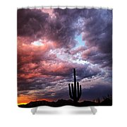Rainbow Skies At Sunset  Shower Curtain