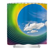 Rainbow Sky 2 Shower Curtain