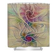 Rainbow Spirals Shower Curtain