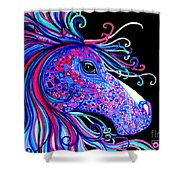 Rainbow Spotted Horse2 Shower Curtain