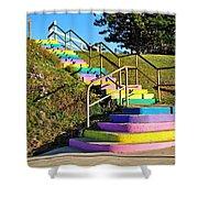 Rainbow Steps Shower Curtain
