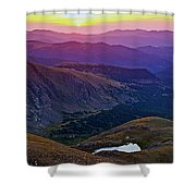 Rainbow Sunrise Shower Curtain