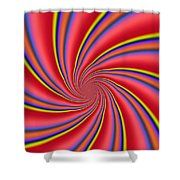 Rainbow Swirls Shower Curtain