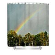 Rainbow To The Clouds Shower Curtain