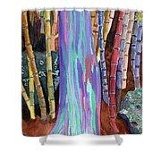 Rainbow Tree Shower Curtain