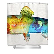 Rainbow Trout Art By Sharon Cummings Shower Curtain
