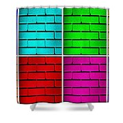 Rainbow Walls Shower Curtain