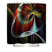 Rainbow Waterfall Shower Curtain by Peter R Nicholls
