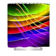 Rainbow Waves Shower Curtain