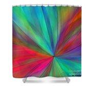 Rainbow Wheel Shower Curtain by ME Kozdron