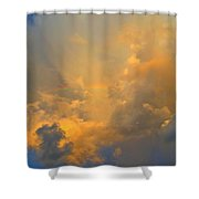 Rainbow With Sunrise Colors Over Pensacola Beach Shower Curtain