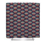 Rainbowaves Pattern Dark Shower Curtain