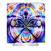 Rainbows And Dragonflies Shower Curtain