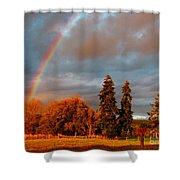 Rainbow's End At Rainbow Falls Shower Curtain