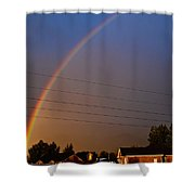 Rainbows Welcome Here Shower Curtain