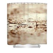 Raindrop Falling On The Street Shower Curtain