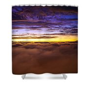 Rainier Above The Clouds Shower Curtain