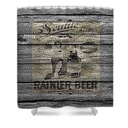 Rainier Beer Shower Curtain