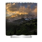 Rainier Evening Skies Drama Shower Curtain