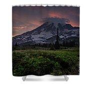 Rainier Fire Mountain Shower Curtain