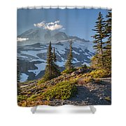 Rainier From Paradise Glacier Shower Curtain