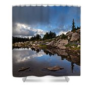 Rainier Spray Park Reflection Shower Curtain