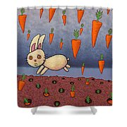 Raining Carrots Shower Curtain