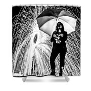 Raining Ring Of Fire Shower Curtain