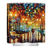 Rain's Rustle 2 - Palette Knife Oil Painting On Canvas By Leonid Afremov Shower Curtain